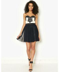 Lipsy Mesh Bandeau Prom Dress   BANK Fashion
