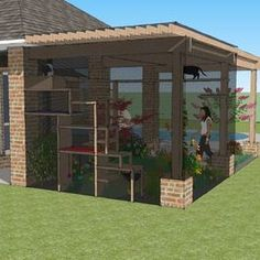 Catio Design - Outdoor Living Space - Southlake, TX #catio #sunroom #cats