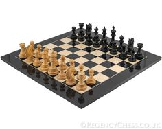 Constantine Series Ebony Chess Set