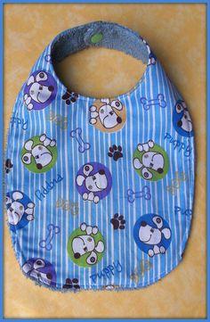 Bavoir en tissu coton motif chiens tissu éponge : Mode Bébé par orkan28