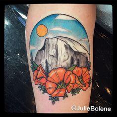 yosemite camping tattoo by Julie Bolene