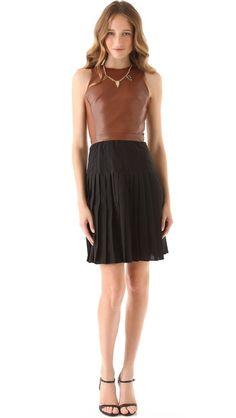 Sleek yet earthy bodice + pleats dress ::: ONE by Wai Ming Claudia Dress ::::: ❥
