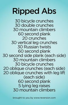 Get ripped abs without going to the gym. #workout #wod #abs