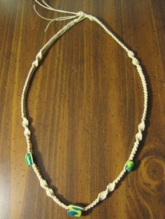 Hemp Necklace with Polymer Beads by UniqueHempDesigns on Etsy, $10.99