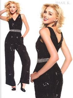 Evening Jumpsuits<BR>Holiday Jumpsuits by SHAIL K.<BR>3494<BR>Formal Got Edgy!