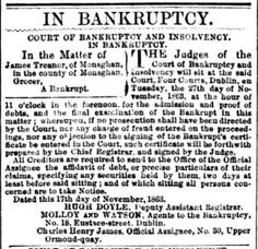 Find your ancestor in bankruptcy cases. Newspapers - More than obituaries | The British Newspaper Archive Blog