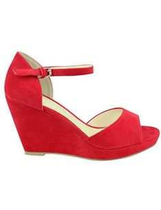 Fashion Thirsty Womens Peep Toe Wedges Low Mid High Heel Platform Summer Ankle Strap Strappy Shoes Size ** To view further for this item, visit the image link. (This is an affiliate link) Red Wedges, Strappy Wedges, Strappy Shoes, Peep Toe Wedges, Peep Toe Heels, Red Sandals, Red Heels, High Heels, Peep Toe Platform