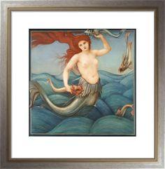 A Sea-Nymph, 1881 Art Print by Sir Edward Burne-Jones Easyart.com