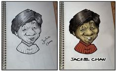 jackie chan sketchbook and photoshop coloring