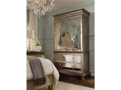 Mirrored Armoire for Bedroom