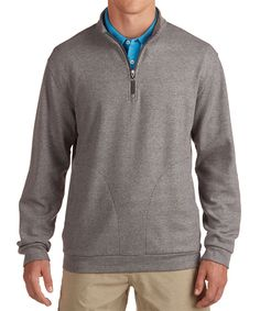 BIRDSEYE PIQUE COTTON GOLF QUARTER-ZIP