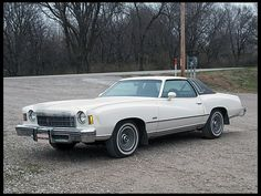 1975 Chevrolet Monte Carlo  Hubby had a blue one when we married.