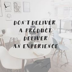 Don't deliver a product, deliver an experience.  Quotes, inspirational quotes, motivational quotes, discipline quotes, goals, goals quotes, sales, products, product uotes, business, business quotes.