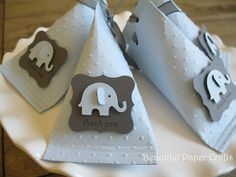 Etsy: Baby Blue and Grey Elephant Baby Shower by BeautifulPaperCrafts (18.00)