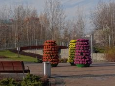flower towers terra with heather I www. Flower Tower, Petunias, Towers, Beautiful Flowers, Autumn, Group, Landscape, Outdoor Decor, Ideas