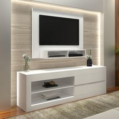 The minimalist TV rack design is the most suitable furniture to decorate the room in your minimalist home as a place to put the TV. Tv Rack Design, Shelf Design, Black Floating Shelves, Floating Shelves Bedroom, Room Shelves, Modern Tv Wall Units, Living Room Tv Unit Designs, Muebles Living, Tv Wall Decor
