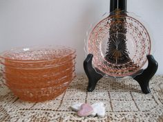 New Item Vintage Jeannette Pink Depression Glass by Reshopgoods