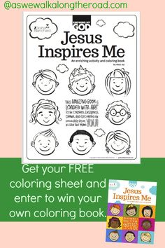Enter to win a coloring/activity that teaches kids about God. And pick up your FREE coloring sheet when you enter.