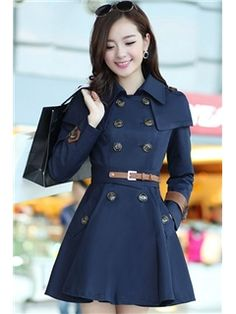 Korean Fashion Double-breasted Trench Coat Look Blazer, Summer Blazer, Girls Fashion Clothes, Fashion Outfits, Womens Fashion, Cool Outfits, Double Breasted Trench Coat, Cute Coats, Vintage Coat