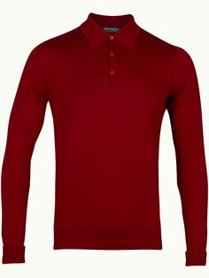 John Smedley Finchley Long Sleeve Polo Shirt - Cranberry - Available to buy at http://www.afarleycountryattire.co.uk/product-tag/john-smedley-finchley-long-sleeve-polo-shirt/ #johnsmedley #mensfashion #poloshirt #afarleycountryattire