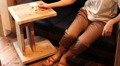 【WOODPRO本店】OLD ASHIBAソファ用サイドテーブル