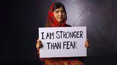 Fique comigo e com as meninas nigerianas: mostrar ao mundo que somos #StrongerThan aqueles que negam aos estudantes uma educação.   Jul 8, 2014, o dia de Malala. Mas quem é Malala?   Malala - uma Mulher, uma luta, um exemplo. | Eu não tolero isto