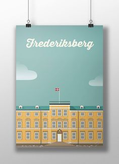 Frederiksberg. poster, design, art, illustration, adobe, artwork, Denmark