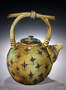 Little teapot, Creekside Pottery. Just beautiful! Love the handle.