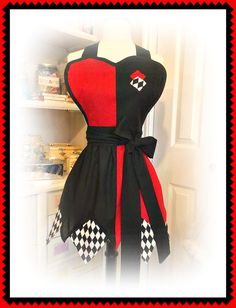 Harley Quinn handmade woman's apron by mimisneedle on Etsy