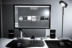 New desk setup by c.zhang@NYC (张纯浩), via Flickr