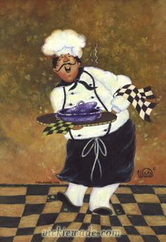 Hug the Chef Art Print fat chef prints, chef paintings, whimsical chefs, chef… Chef Pictures, Kitchen Pictures, Fat Chef Kitchen Decor, Kitchen Art, Cartoon Chef, Retro, Kitchen Prints, Le Chef, Tole Painting