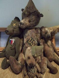 Military bears by Judy Smith