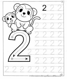 New System-Suitable Numbers Line Study - Preschool Children Akctivitiys Preschool Writing, Numbers Preschool, Preschool Learning Activities, Preschool Lessons, Printable Preschool Worksheets, Kindergarten Math Worksheets, Kids Worksheets, Math For Kids, Kids Education