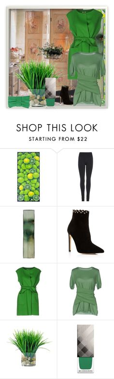 """""""So Green. . ."""" by starestrada ❤ liked on Polyvore featuring beauty, NOVICA, Wolford, Raye, P.A.R.O.S.H., Moschino, Burberry, RED Valentino and nailedit"""