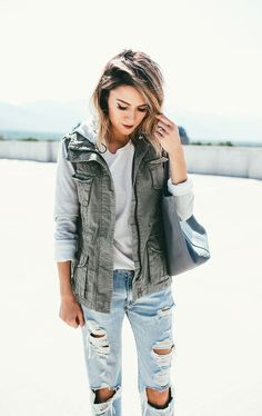 I have a vest like this but would like a gray top to wear underneath