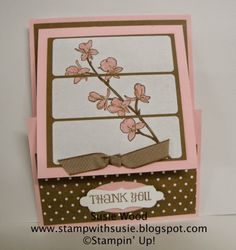 Stampin' Up!- 'A fun fold Happy Watercolor' label technique card. Check out the shape of the words- created with the Decorative Label Punch. used in another way!
