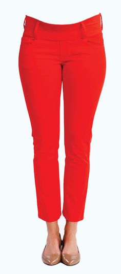 Skinny Ankle Red Maternity Jeans from Maternal America  http://www.justmaternityjeans.com/usa/red-ankle-maternity-jeans