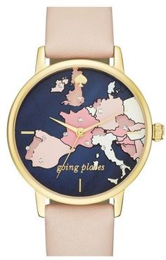 Kate Spade New York 'metro' Leather Strap Watch, 34mm. Click the link to shop right now!