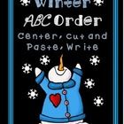This set includes 12 winter vocabulary cards in color and black and white. A recording sheet for writing the words from the cards in ABC order, a cut and paste winter ABC order sheet, and a write the word ABC order sheet are also included. See the preview for all included pages.