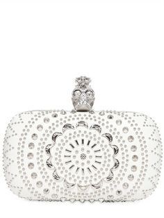 Alexander McQueen: NAPPA LEATHER SKULL BOX CLUTCH