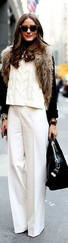 winter white. Love winter white, this outfit is lovely.