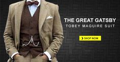 The Great Gatsby Tobey Maguire Suit Gatsby Costume, The Great Gatsby, Leonardo Dicaprio, Shop Now, The Past, Suit Jacket, Mens Fashion, Suits, Shopping