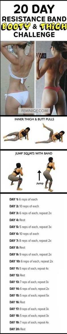 20 Resistance band booty and thigh challenge