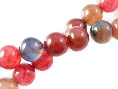 Agat Mix Kolorów 2 sznur 40cm w kamyczki na DaWanda.com