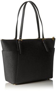 e6be11d4c503 Michael Kors Women Jet Set Large Top-zip Saffiano Leather Tote Shoulder  Bag