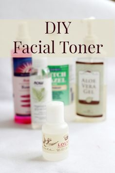 DIY Facial Toner: Here are the measurements: 2 Tbsp Rosewater 2 Tbsp Witch Hazel 1 tsp Vegetable Glycerin 1/2 tsp of aloe vera gel few drops of Lavender few drops of Rose Hip Seed Oil  You put them all in the same container and shake well. That's it! It doesn't make a lot, but you can double or triple it as you like.