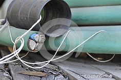 Aluminum industrial cable. Insulating wires