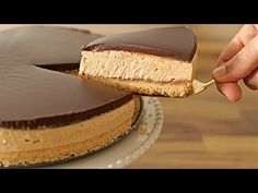 Delicious and easy to make No-bake peanut butter cheesecake. This recipe doesn't require gelatin. Super rich flavor and texture peanut butter and chocolate cheesecake. If you a peanut butter lover you must try this cheesecake recipe. Butter Pecan Cheesecake Recipe, Chocolate Cheesecake, Cheesecake Recipes, Homemade Cheesecake, No Bake Cheesecake, Raspberry Cheesecake, Cheesecake Bites, Food Cakes, Recipes