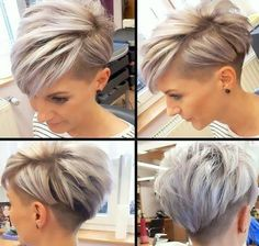 Icy Short Pixie Cut - 60 Cute Short Pixie Haircuts – Femininity and Practicality - The Trending Hairstyle Short Punk Hair, Funky Short Hair, Short Hair Undercut, Very Short Hair, Short Pixie Haircuts, Undercut Hairstyles, Short Hair Cuts For Women, Short Hairstyles For Women, Cool Hairstyles