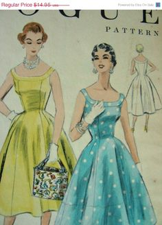 ON SALE Vintage 50's VOGUE Design Sewing Pattern 8328  by anne8865, $12.71